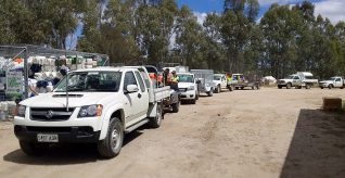 A successful opening day for new drumMUSTER collection site in the Barossa Valley