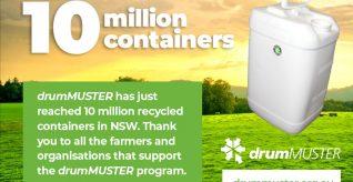 drumMUSTER celebrates 10 million milestone in New South Wales